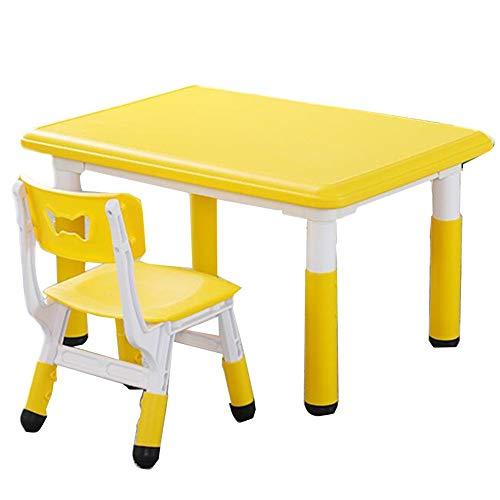 LIANGJUN Kindertafel Kruk Peuter Tafels Stoelen Veiligheid Spel Eettafel Verstelbare Hoogte Draagbare School Kleuterschool, 5 Kleuren