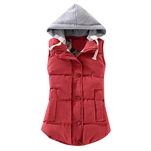 Gilet Donna Piumino Leggero Smanicato 2020 New Cappotto con Cappuccio Donna Invernale Imbottito Giacca con Cerniera E Tasche Giubbotto Donna