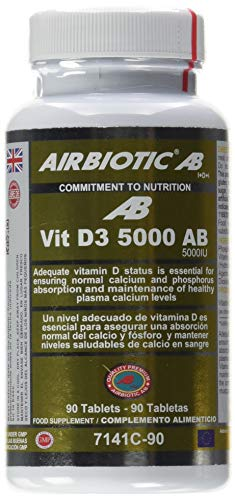 Airbiotic AB Vit D3 AB 5.000 UI, Vitaminas, 90 tabletas