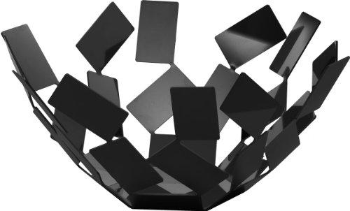 Alessi MT02 B, Frutero, Acero Inoxidable, Negro, 27.3 x 27.3 x 13 cm