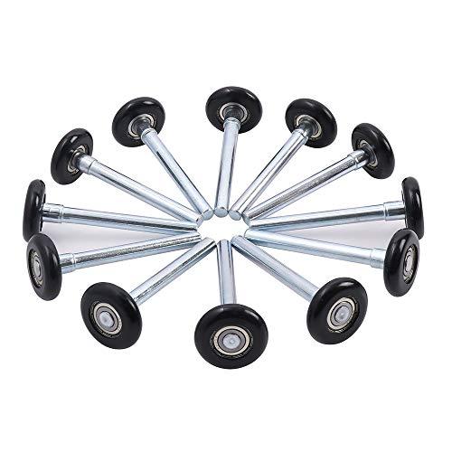 Home Master Hardware 2' in Nylon Garage Door Roller Replacement Quiet Garage Rollers 13 Ball Bearing...