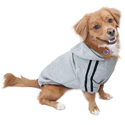Eastlion Hund Pullover Welpen-T-Shirt Warm Pullover Mantel Pet Kleidung Bekleidung, Grau, Gr. XS