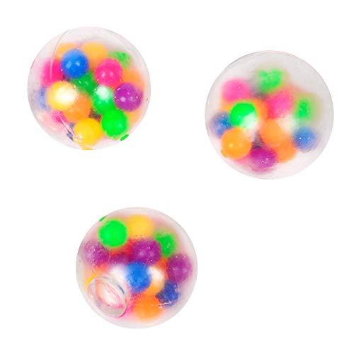 Pelota de Estrés para Adultos y Niños, 1 Paquete de Pelota de Alivio del Estrés, Bola de Presión Antiestrés Bola para Alivio de la Ansiedad Bola Esponjosa con Pinchos Juguete Sensorial para Autismo 🔥