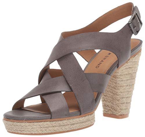 Lucky Brand Women's CABINO HIGH Heel Heeled Sandal, Titanium, 11 M US
