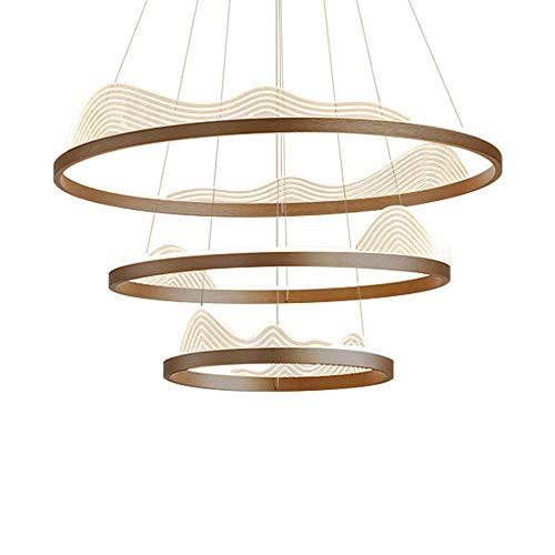 Individualidad creativa led colgante luz elegante techo araña de aluminio tricolor lámpara colgante lámpara art déco para dormitorio sala de estar comedor cocina cocina 3-anillo 40 + 60 + 80 cm