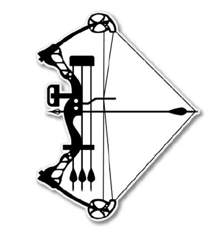 GT Graphics Compound Bow - 3' Vinyl Sticker - for Car Laptop I-Pad Phone Helmet Hard Hat - Waterproof Decal