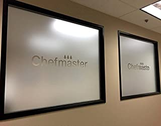 (79'' x 79'') Custom Personalized Etched Vinyl Graphics for Glass / Office Window Frosted Look Sticker / Die Cut Custom Text Signs + Free Decal Gift!