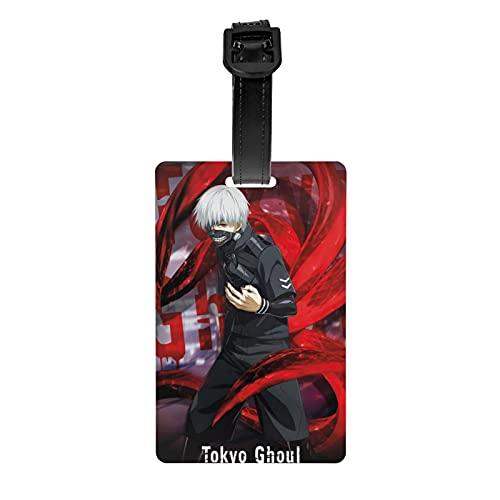 Tokyo Ghoul - Targhetta per bagagli, di alta qualità, per bagagli, accessori da viaggio, etichette per bagagli