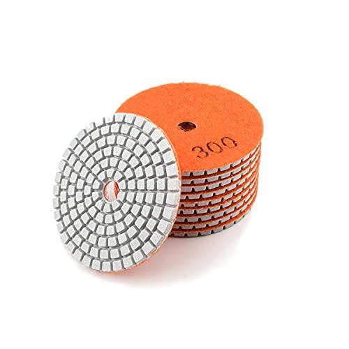 LEISHENT Almohadillas De Pulido De Diamante para Pulidora O Pulidora De Piso De Mármol De Hormigón De Piedra De Granito O Pulidora Húmeda,3 Pulgadas, 12 Pcs,300Grit