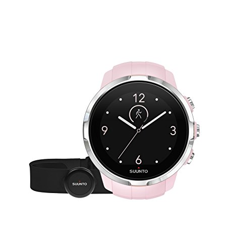 Suunto - Spartan Sport (HR) - SS022673000 - Reloj GPS para Atletas Multideporte + Cinturón Frecuencia Cardiaca - Pantalla táctil de Color - Rosa - Talla única