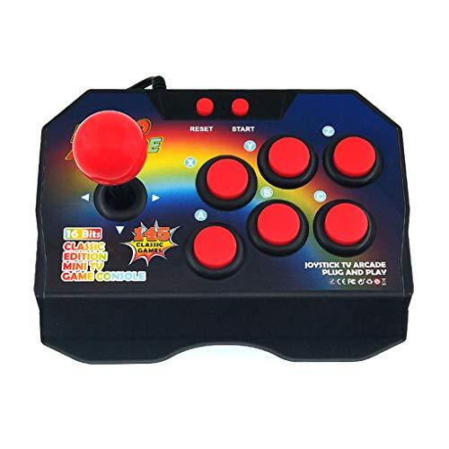 F-blue Retro Arcade Video Consola de Juegos 145 Juegos de Arcade Consola clásica de la TV 16 bit Game Joystick Forma de diseño para niños Adultos eléctrico de Juguete