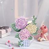 立体バースデーカード、Card birthday、お誕生日カード、フラワーカード、メッセージカード、母の日、父の日、感謝祭、バレンタインなどに最適なグリーティングカード (A)