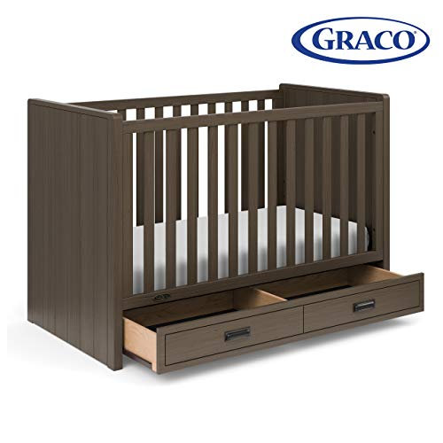 Graco Cottage 3-in-1 Easily Converts to Toddler Bed and Daybed, 3-Position Adjustable Mattress Support Base, Mocha