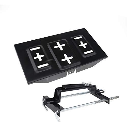 ENET 2 soportes para bandeja de batería de coche de metal ajustable para sujetar pinzas de ciclo
