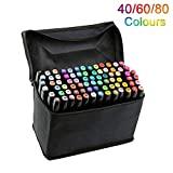 Best Graffiti Markers - 40 Colors Dual Tip Marker Pen Waterproof Professional Review