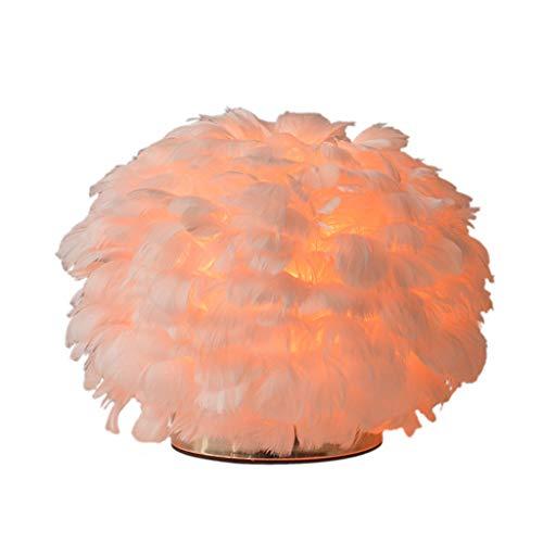 Zhichy - Lámpara de mesa, diseño vintage, elegante, color blanco