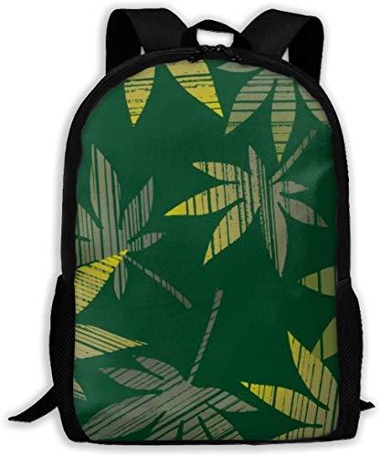 Unkraut Pflanzen Wallpaper Adult Travel Rucksack Schule Bookbag Casual Daypack Oxford Outdoor Laptop-Tasche Computer Umhängetaschen