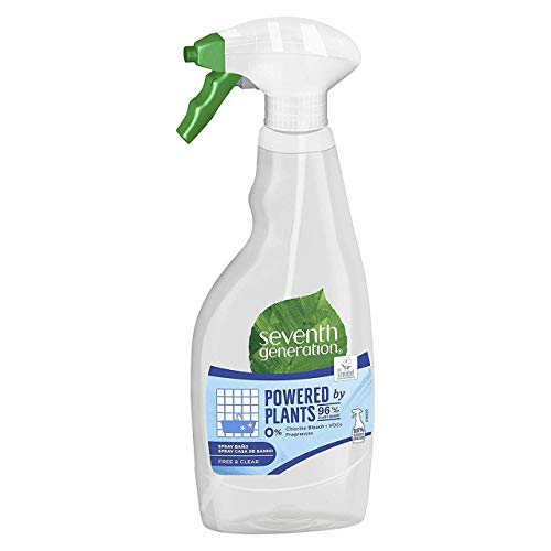 Seventh Generation Free & Clear - Spray para Baño, 0% Cloro y Fragancias, 500 ml