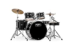 """Rebel Double Braced Hardware New Mapex Lug Design Remo Self Muffling Bass Drum Head Equipped with Cymbals, Throne and Sticks 9ply, 7. 2mm poplar shells provide plenty of tone while the bass drum also delivers a solid low-end punch Includes: 22""""x16"""" B..."""