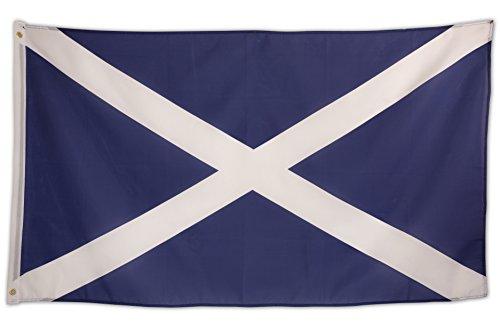 SCAMODA Bundes- und Länderflagge aus wetterfestem Material mit Metallösen (Schottland-Blau) 150x90cm