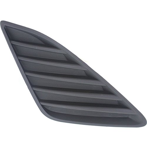 DAT AUTO PARTS Front Bumper Cover Replacement for 02-05 Audi A4 Type 1 Black Outer Grille Left Driver Side AU1038102