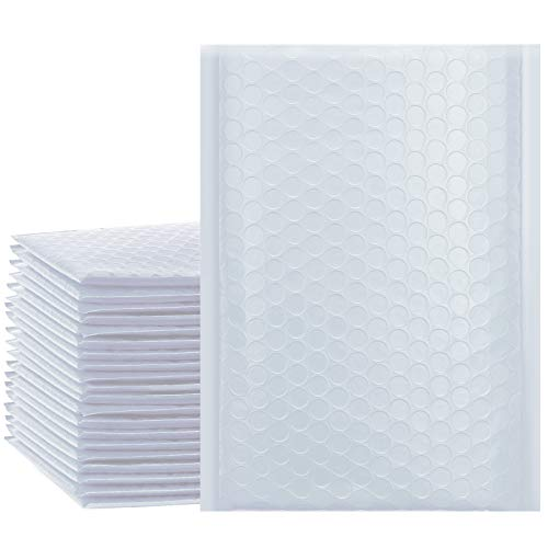 UCGOU 6x10 Inch Waterproof Envelopes White Poly Bubble Mailers Pack of 50Pcs Padded Envelopes Boutique Custom Bags Shipping Envelopes Bags (usable size-6x9