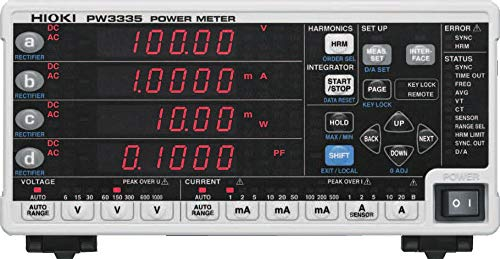 Hioki PW3335-03 latest Single-Phase AC DC Power Super special price Meter RS-232C C LAN w