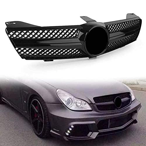 HUANTIAN Parrilla De Coche Abs Negro Brillante Adecuado para Mercedes Benz W219 Cls500 Sls600 CLS Class 2004 2005 2006 2007 Amg Style