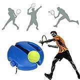 Base de Tenis con Cuerda elástica (Puede hasta 8 Metros),Entrenador de Pelota de Tenis,Juego de Rebote Tenis Base Tenis de Entrenamiento Auto Práctica,no es Necesario Recoger la Pelota con frecuencia