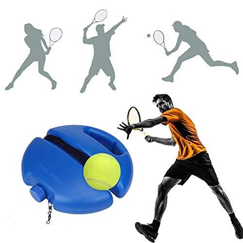 TOMATION Tennis Trainer mit elastischem Seil(Kann 8 Meter erreichen),Tennisball Trainer,Solo Tennis Trainer Rebound Ball,Tennis Übungsausrüstung,Sie müssen den Ball Nicht oft aufheben