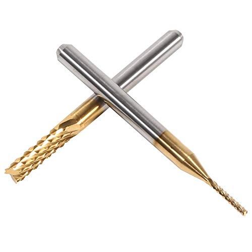 10 STÜCKE Fräser 1,0-3,0mm, Titan Beschichtete Schaftfräser Hartmetall CNC Schneideinsätze Werkzeuge