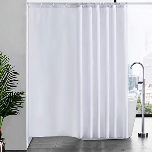 con 12 ganci Encozy antimuffa Tenda da doccia impermeabile lavabile Black and White 180X180cm