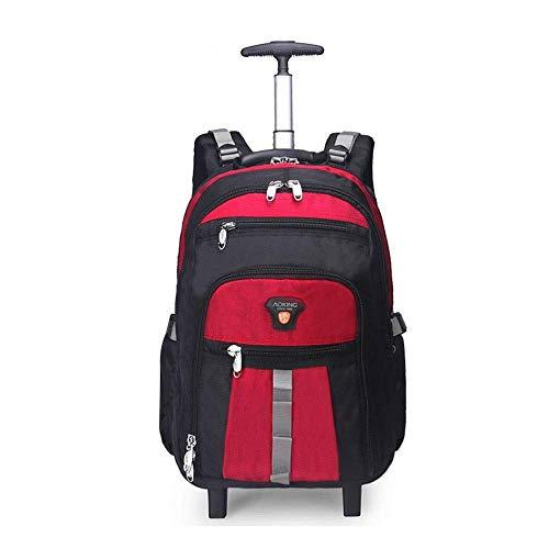 ZXM Trolley Viaggio di Lavoro imbarco Zaino, di Grande capacità Multi- Pocket Uomini e Donne Borsa for Computer Schoolbag (Colore : Red, Size : 48x20x34cm)