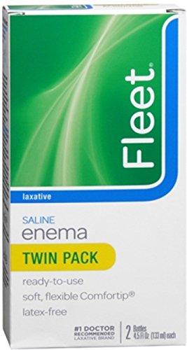Fleet Adult Enema, Ready to Use, Twin Pack, 4.5 Oz Ea