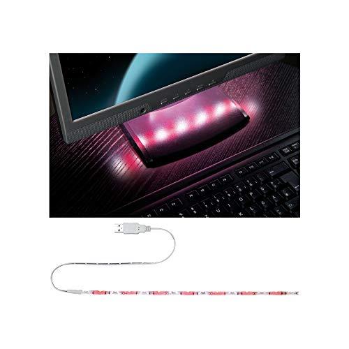 Paulmann 704.57 Function - Tira de luces USB (30 cm, 1,5 W, 5 V, metal y plástico), color rojo y blanco