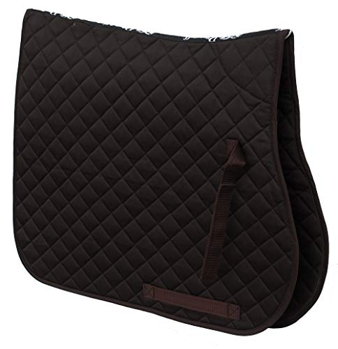 Rhinegold Cotton Quilted Saddle Cloth Cob Brown
