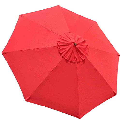 New Market Patio Umbrella Replacement Canopy Canvas Cover 8' 9' 10' 11' 13' ft (8', Red)