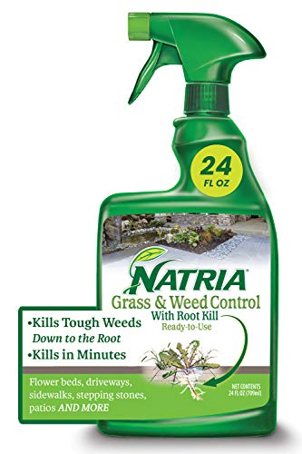 Natria 100532521 Grass & Weed Control with Root Kill Herbicide Weed Killer, Ready-to-Use, 24 Oz