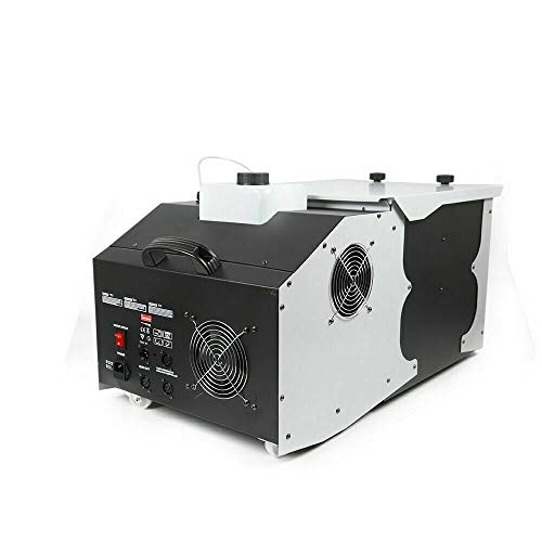 3000W Lying Smoke Fog Machine Fog Effect DMX DJ Stage Party Stage Effects Hazer Show Wheel High Power Perfect for Wedding Halloween Party and Stage Effect