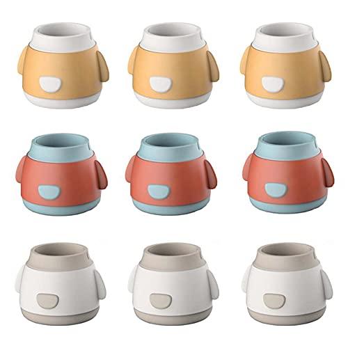 12 Pcs Cute Cartoon Chair Leg Caps Furniture Table Feet Pads Covers, Round Non-slip Silicone Chair Leg Floor Protectors, Prevent Floor Scratches & Reduce Noise
