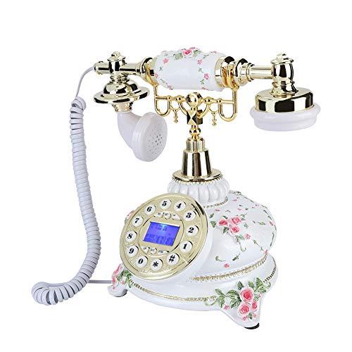 Hakeeta Teléfono Fijo, Retro Antiguo.Exquisito y Hermoso teléfono Fijo Fijo para la Oficina en casa, Sistema Dual FSK/DTMF.