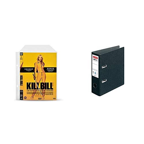 3L Fr 10282 – DVD-Hüllen, perforiert, transparent, mit Klappe, zum Aufbewahren von DVD-Scheiben & -Umschlägen – 100 Stück und Herlitz Ordner maX.File A5 hoch, 7,5 cm mit Selbstklebendem Rückenschild