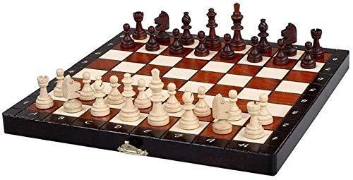 WCY Schachbretter Sets Schach Set Schach-Holz-Faltbrett-Spiel mit Stücken Magnetischer Schachman-Weihnachts-Premium-Geschenke Unterhaltungsplatine-Spiel Backgammon yqaae