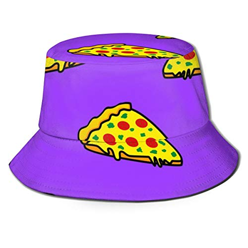 Ygoner Flat Top Breathable Bucket Hats Abstract More Pizza Unisex Funny Bucket Hat Summer Fisherman's Hat