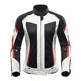 Chaqueta de Motocicleta Pantalones de Motocicleta Traje Chaqueta Moto Touring Touring Motorbike Set Gray Jacket XL