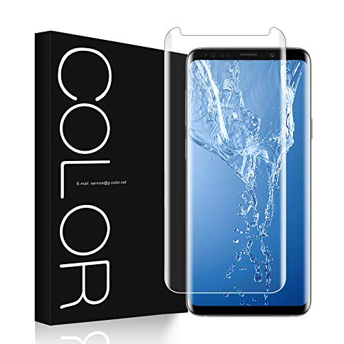 G-Color Galaxy S8 Screen Protector, S8 [3D Glass] [Full Glue] [High Sensitive] [Scratch Resistance] Tempered Glass Screen Protector for Samsung Galaxy S8