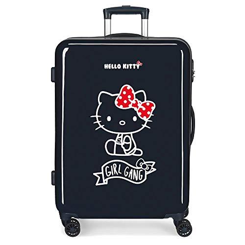 Hello Kitty Girl Gang Hello Kitty Valigia Media per Bambini, 68 cm, Blu Scuro