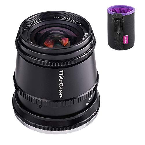 TTartisan 17mm F1.4 APS-C-Format Weitwinkel-Objektiv, kompatibel mit Fuji X-Mount-Kameras X-A2 X-A2 X-A3 X-A5 X-A7 X-H1 XT1 X-T2 X-T3 X-T20 X-T30 X-T100 X-T200 X-PRO1 X-PRO3 X-E1 X-E2 X-E2S X-E3 XS10