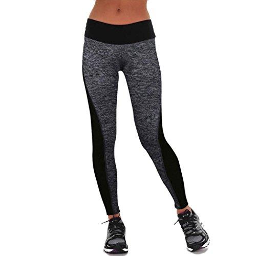 Maolanku Donne Pantaloni Sport Athletic Gym Allenamento Fitness Leggings Pantaloni Yoga Corsa Libero Pantaloni (Grigio, M)