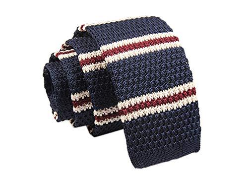 Hosaire Moda Tejido de Punto Mens de Llano Delgado Casual Cuello Flaco Fiesta Boda Lazo Corbata size ZZLD-001